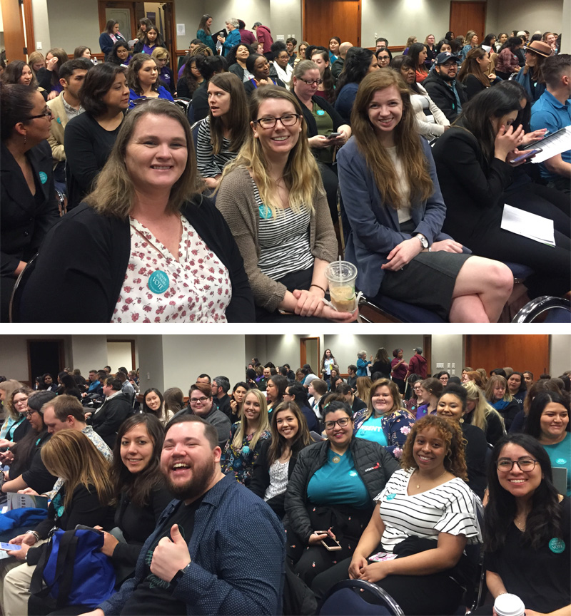 Students at the Social Work Advocacy day in Austin, TX